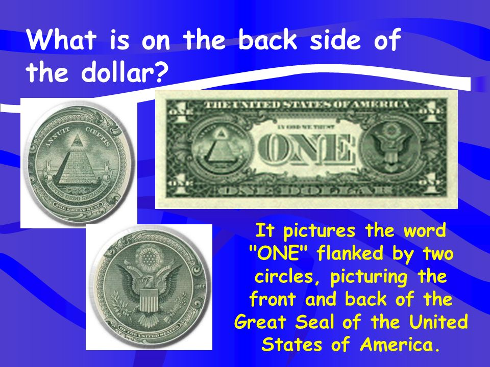 What is on the back side of the dollar