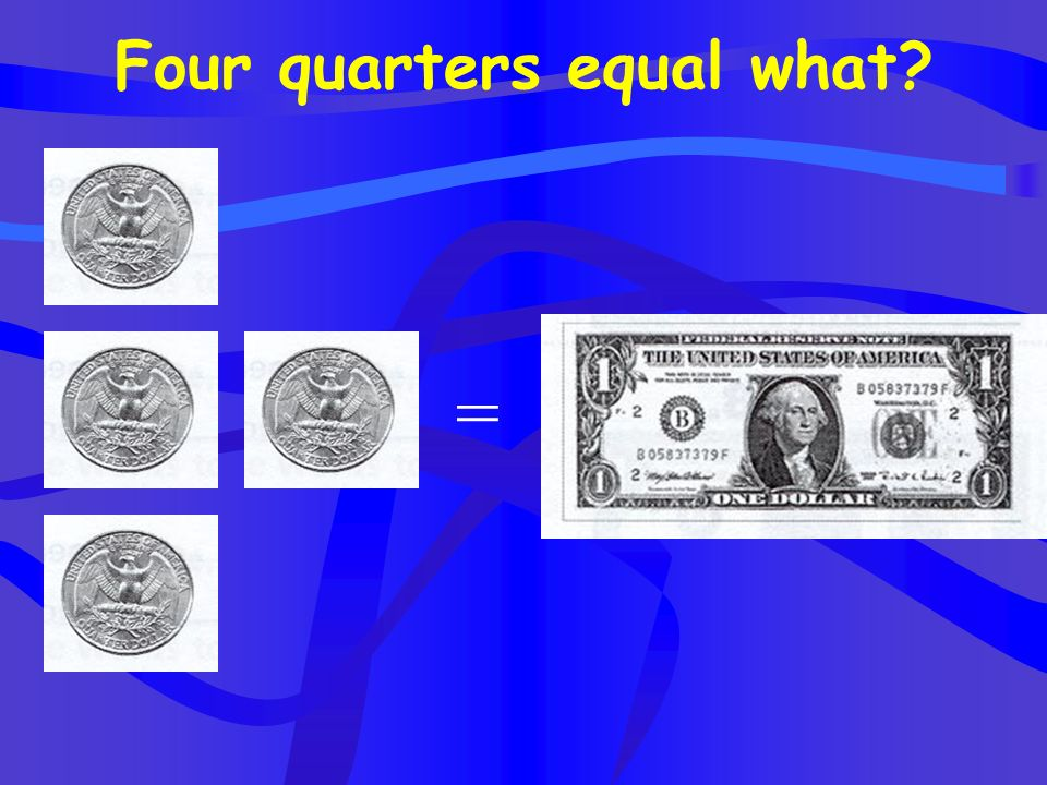 Four quarters equal what