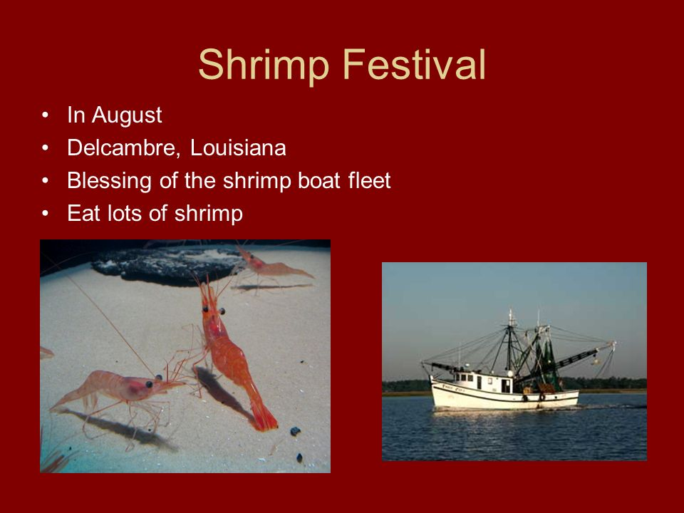 Shrimp Festival In August Delcambre, Louisiana