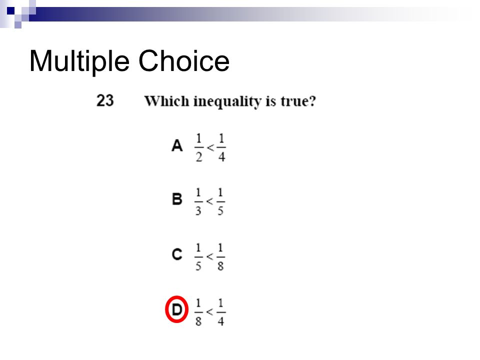 Multiple Choice