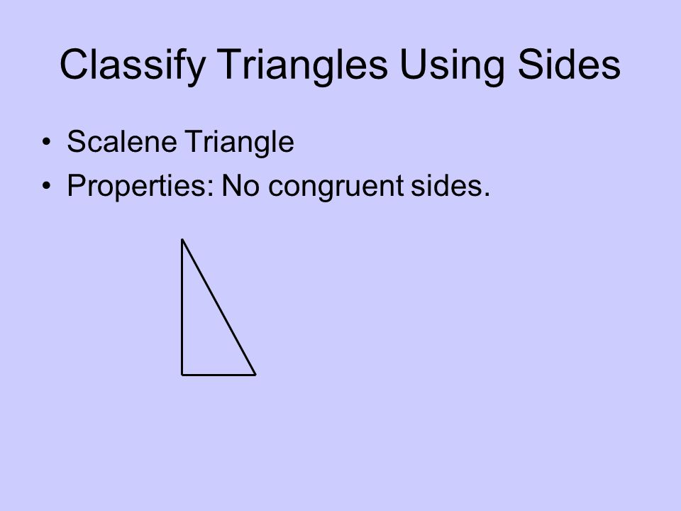 Classify Triangles Using Sides