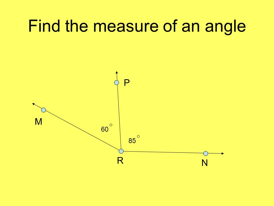 Find the measure of an angle