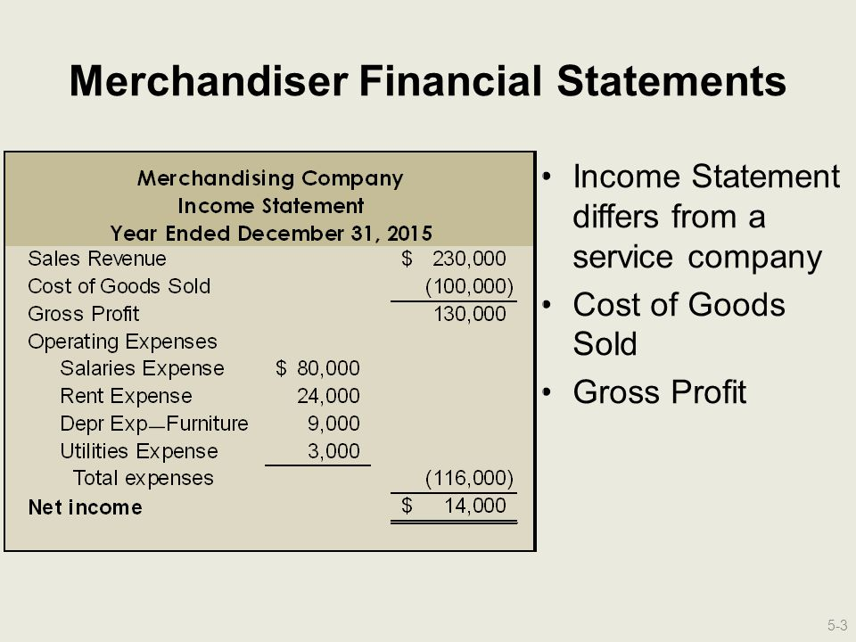 which line item would be found on a merchandiser s balance sheet and not on a service firm s