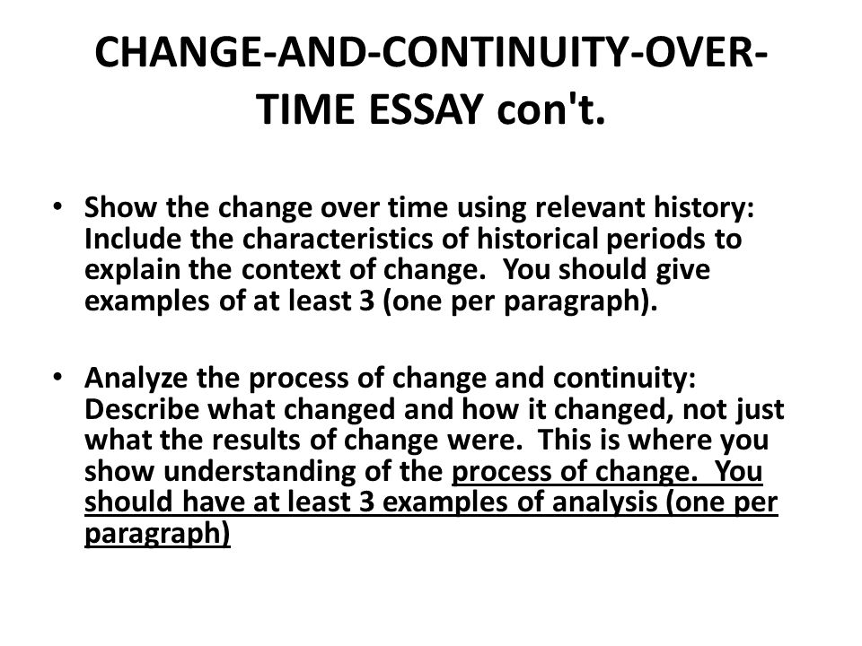 change and continuity over time essay russia