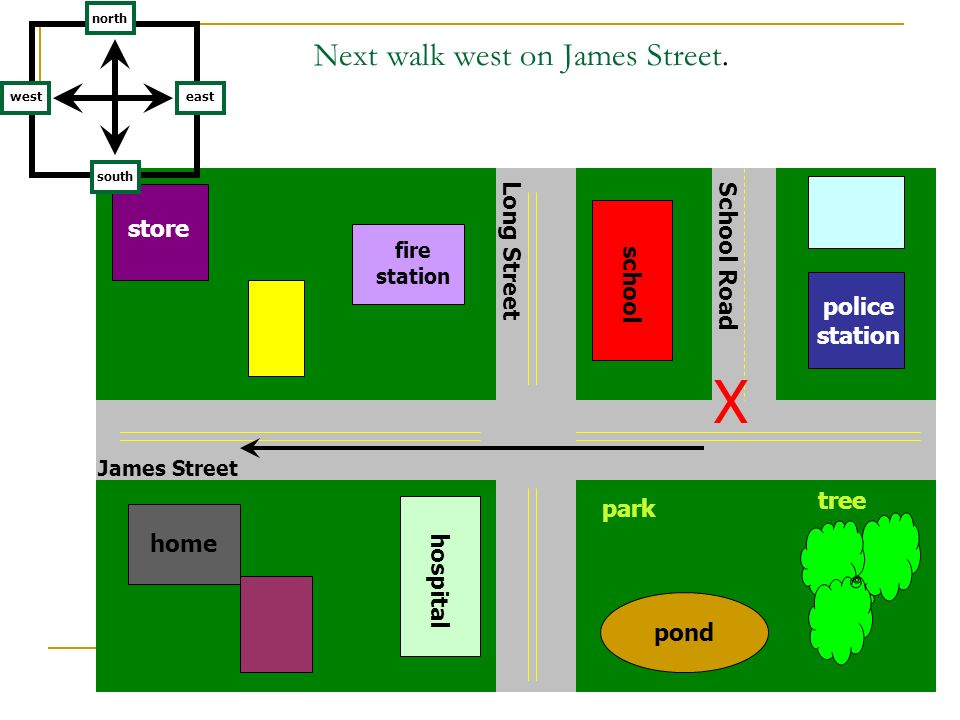 Next walk west on James Street.