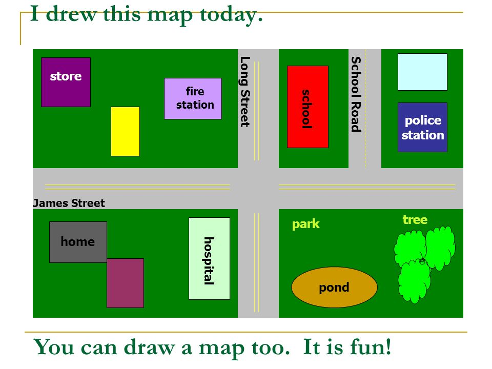 You can draw a map too. It is fun!