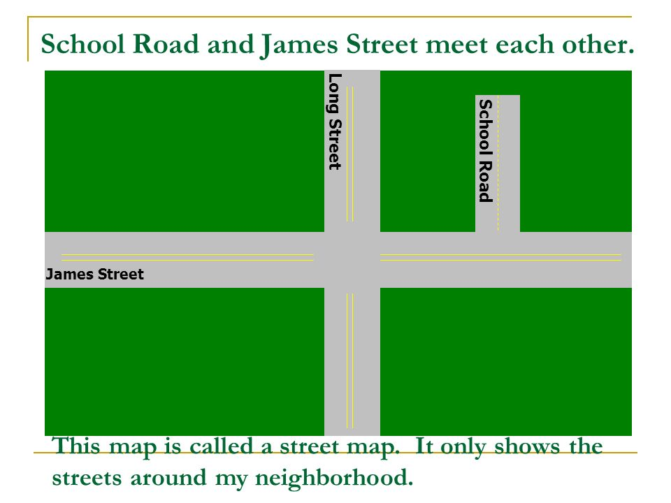 School Road and James Street meet each other.