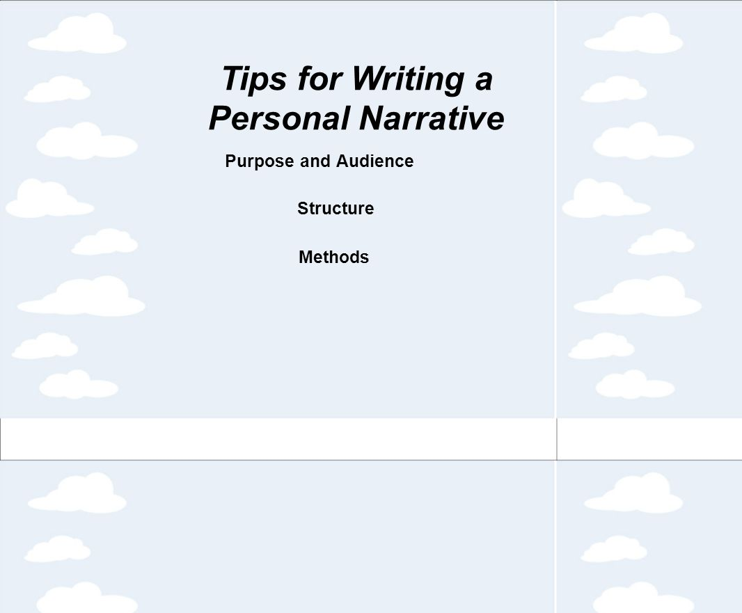 personal writing tips