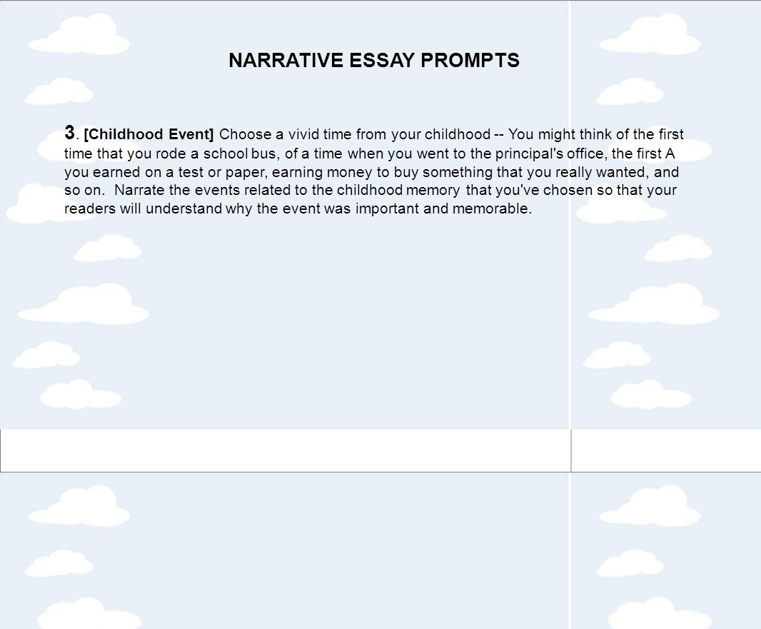 tips for writing a personal narrative ppt video online  narrative essay prompts