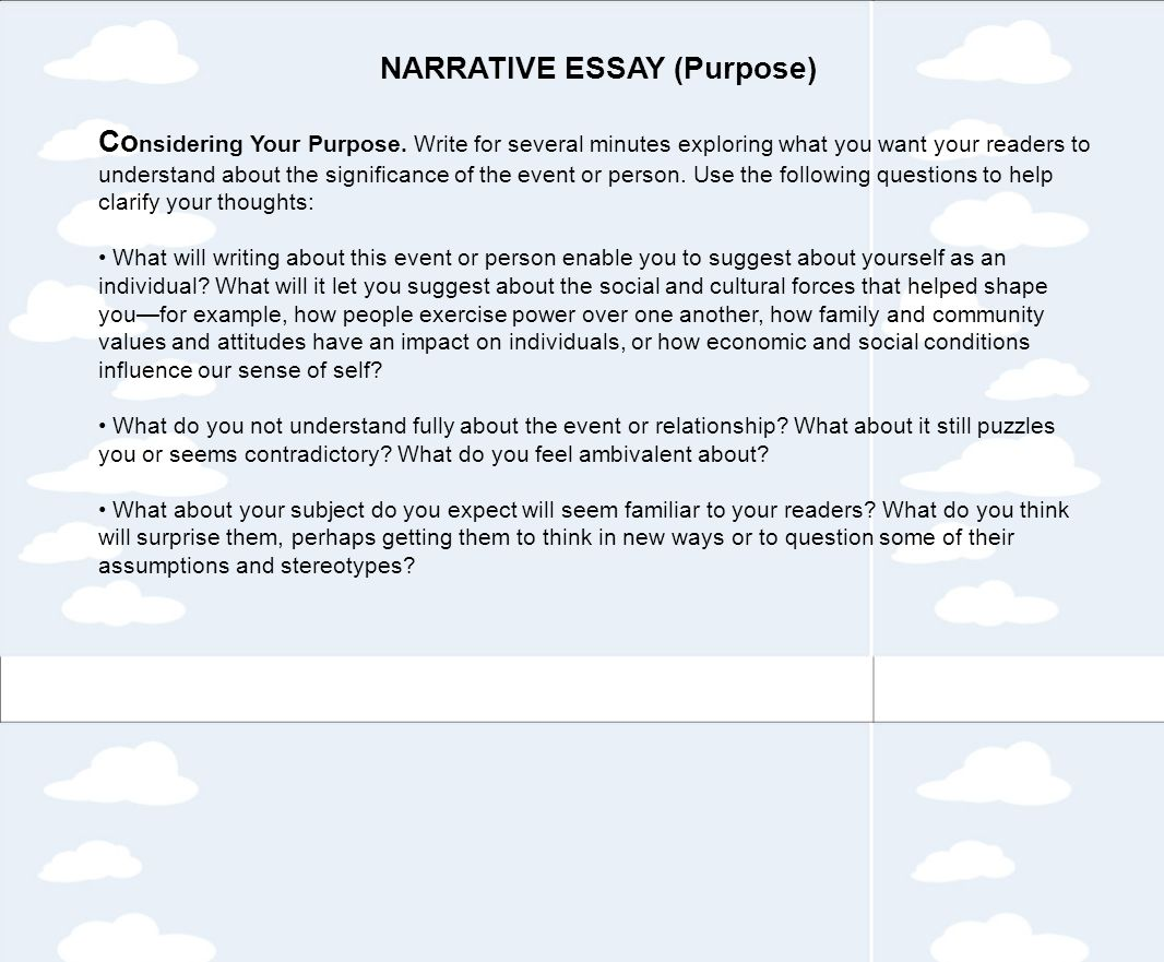does a narrative essay have a thesis how should i start my thesis for my personal narrative