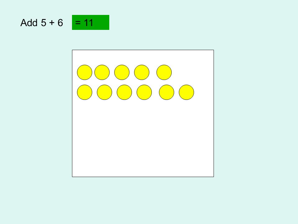 Add 5 + 6 = 11