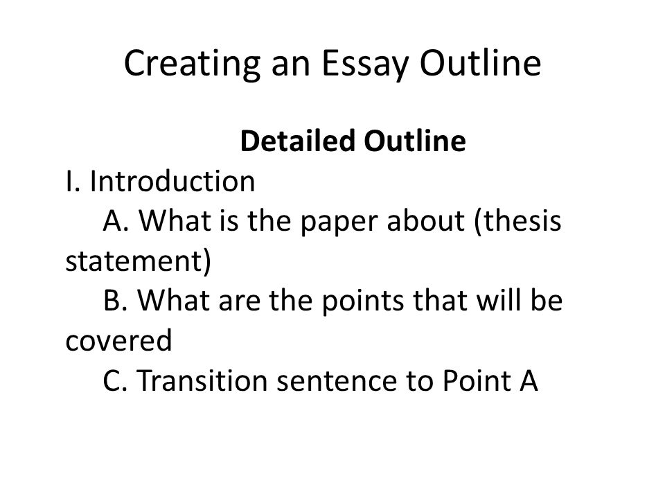 creating an essay outline