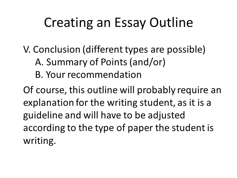college paper outline template