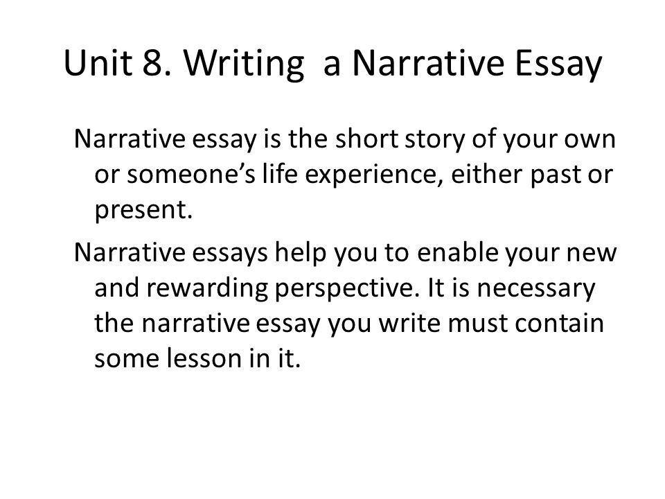 advanced english writing ppt video online  writing a narrative essay
