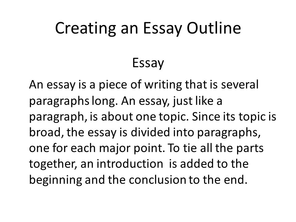How To Make An Essay Outline Content Plan