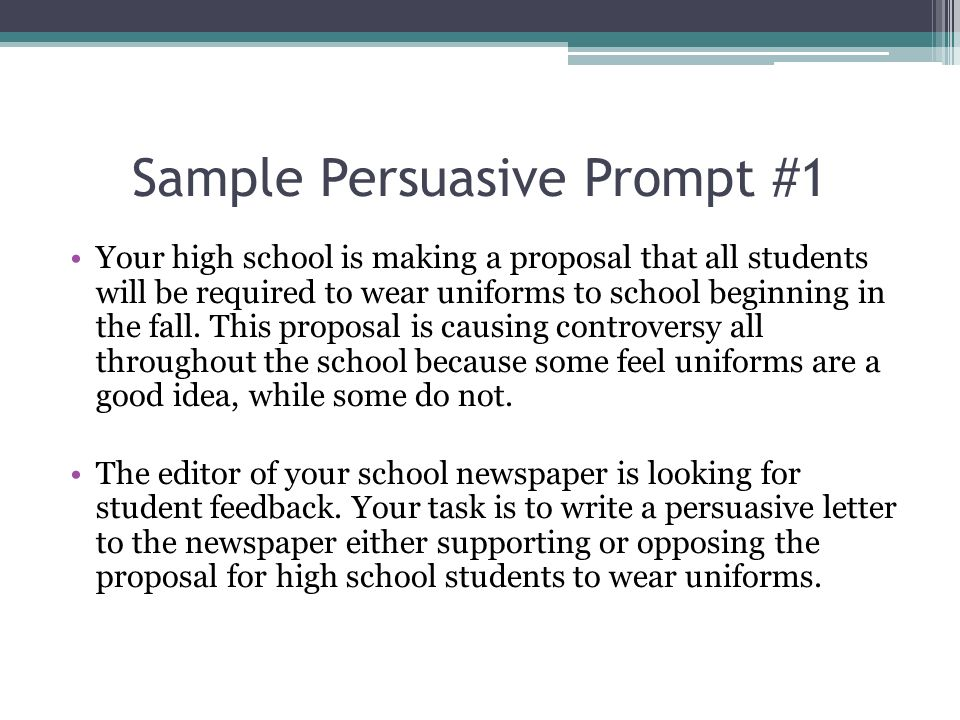 persuasive essay ideas for high school