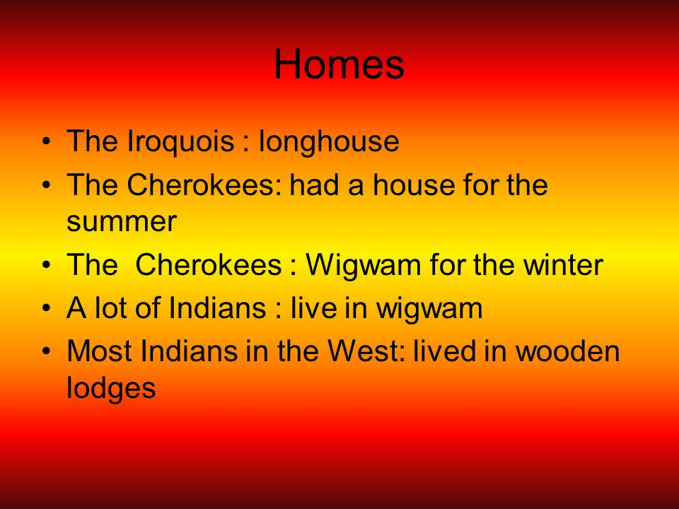Homes The Iroquois : longhouse