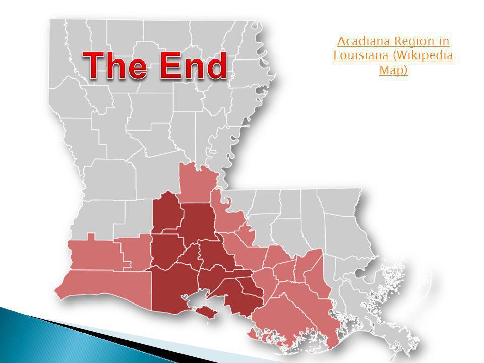 Acadiana Region in Louisiana (Wikipedia Map)