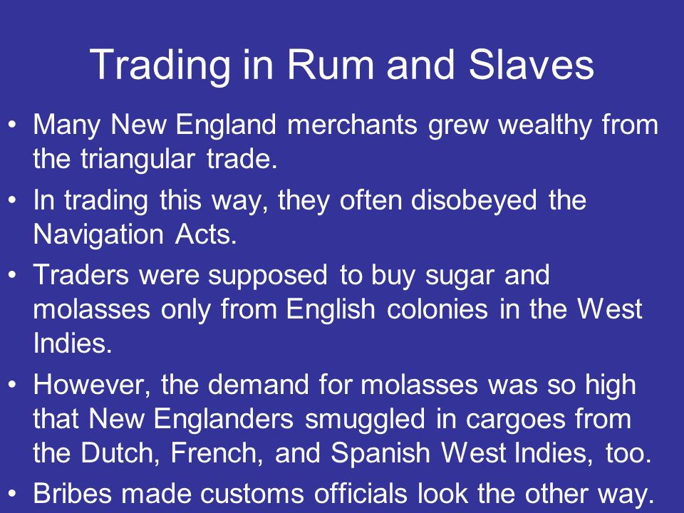 Trading in Rum and Slaves