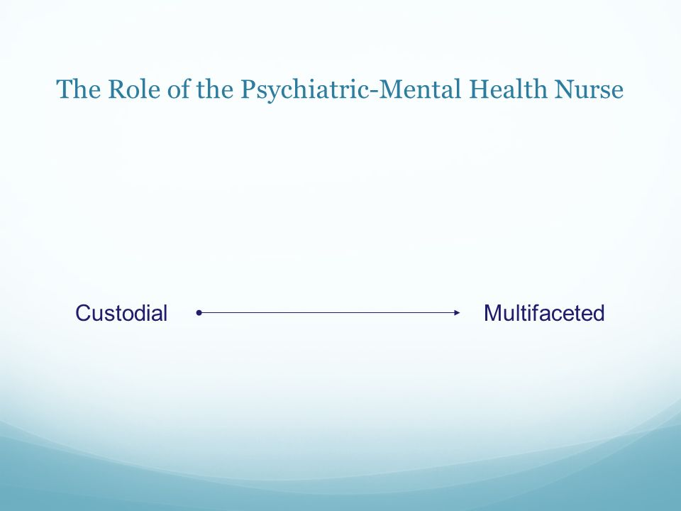 role of mental health nurse in A mental health nurse cares for patients who are suffering from a mental illness, dysfunction or mental disorder not all patients that a mental health nurse treats are mentally ill though they may be suffering from stress or emotional difficulties in their own home, in a nursing home or in.