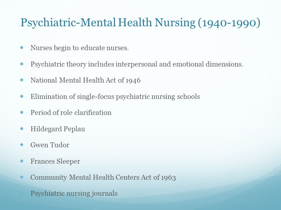 role of psychiatric nurse pdf