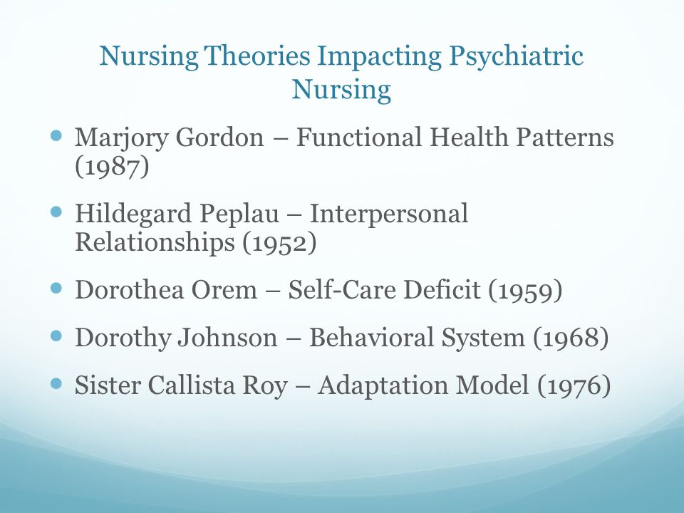 nursing theories related to a home Development of nursing theories overview of nursing theory  and shows how research is related to both  self-care deficit nursing theory home page.