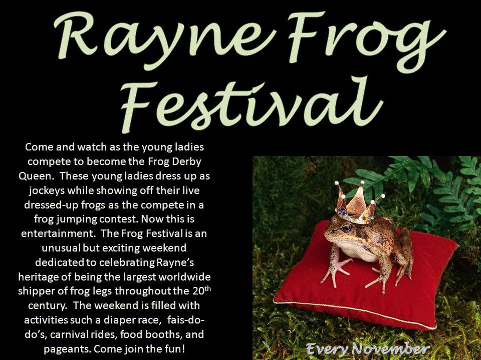 Rayne Frog Festival Every November