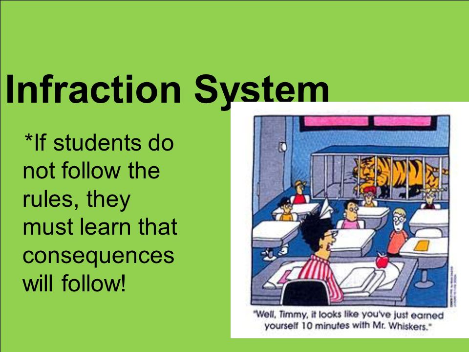 Infraction System *If students do not follow the rules, they must learn that consequences will follow!