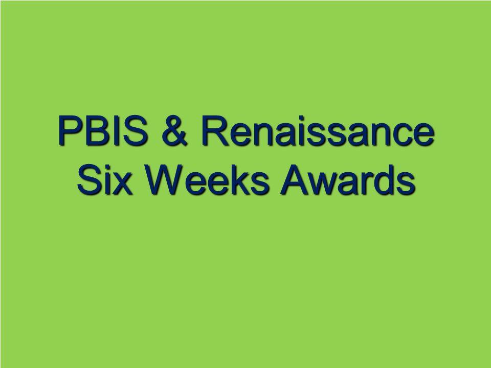 PBIS & Renaissance Six Weeks Awards