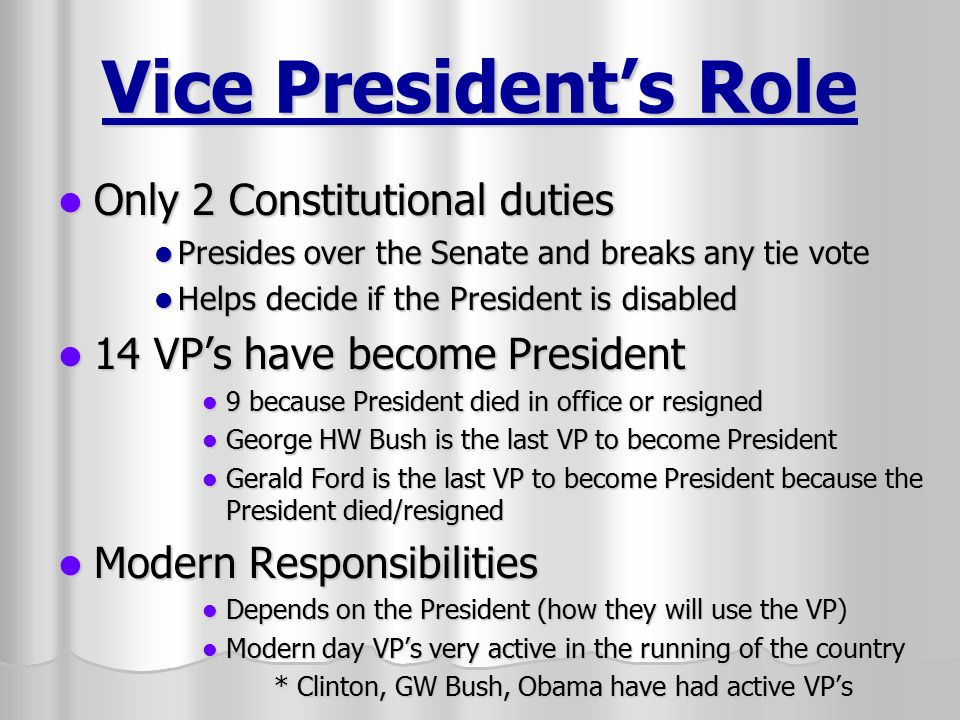 The Executive Branch The President And Vice President  Ppt Video
