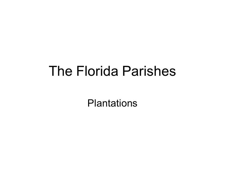 The Florida Parishes Plantations