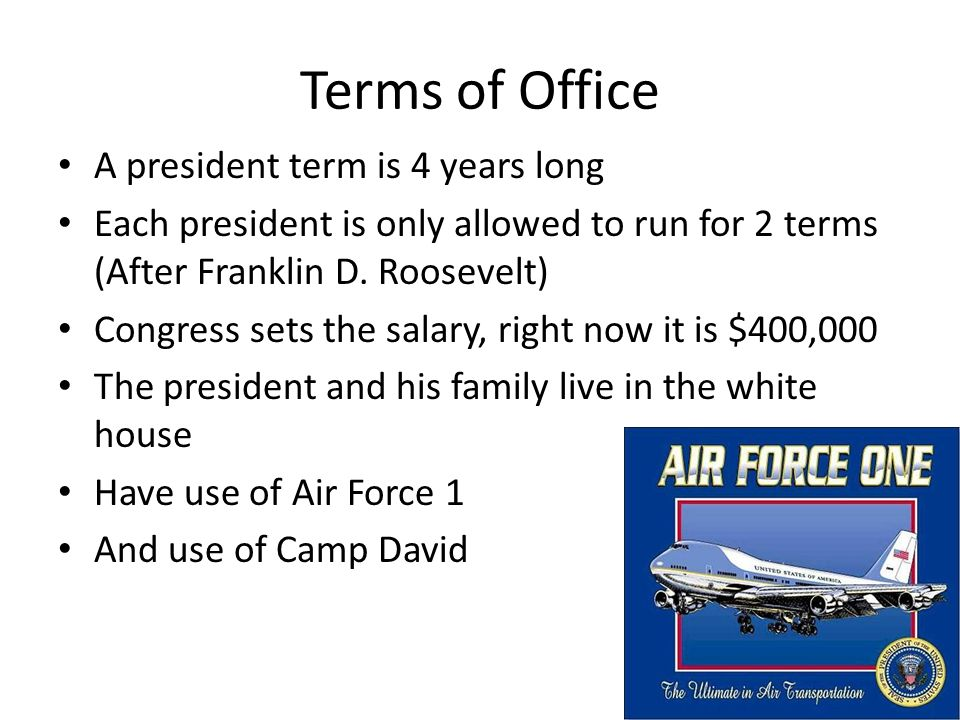 Sub-categories of Congressional terms of office