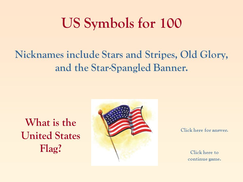What is the United States Flag Click here to continue game.