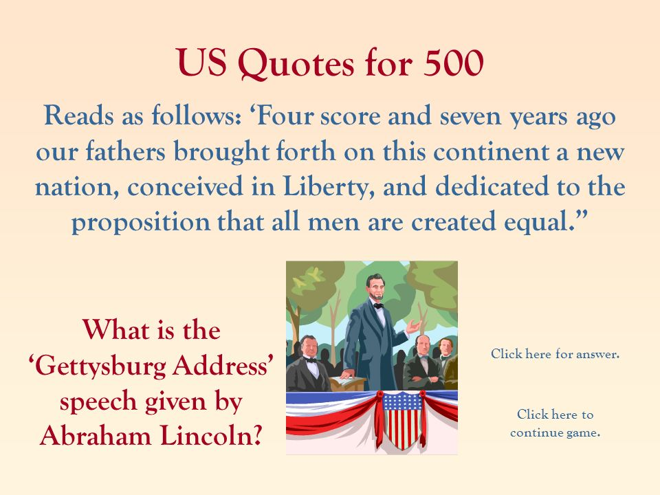 US Quotes for 500