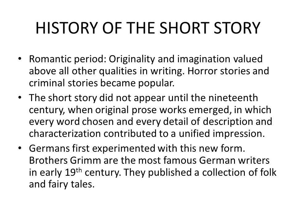19th century horror stories essay A brief history of english literature  exception of the 19th century  drama meant the amateur performances of bible stories by craft guilds on.