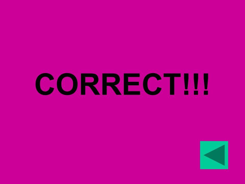 CORRECT!!!