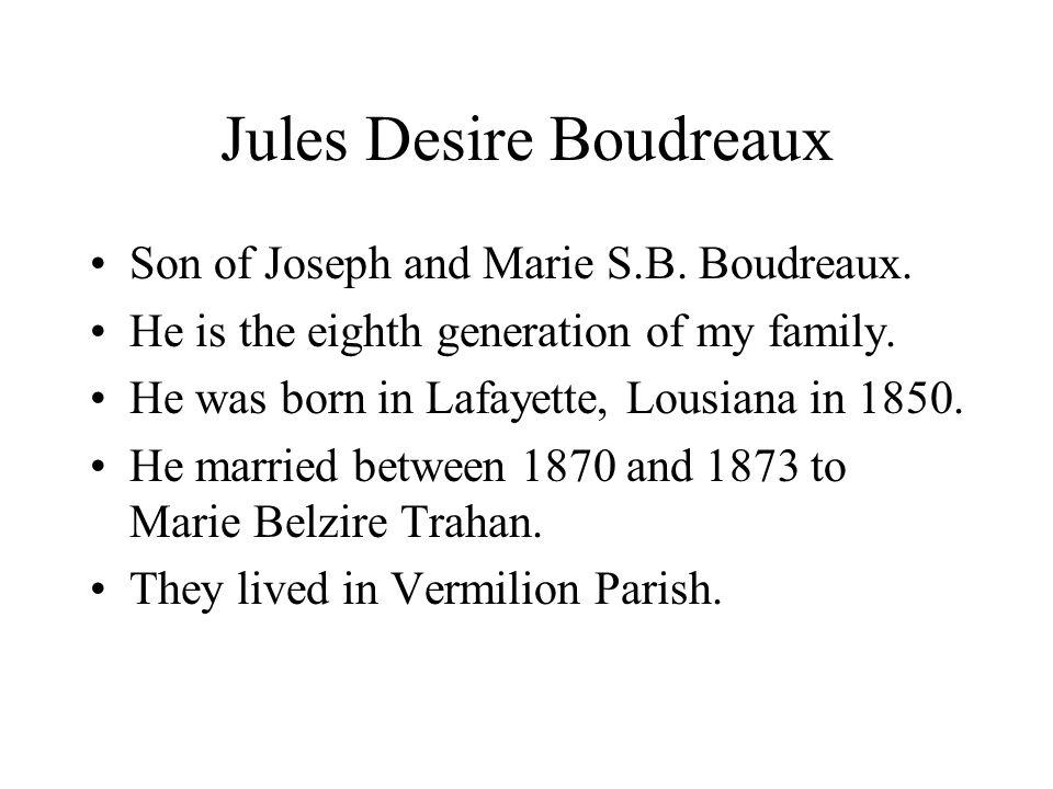Jules Desire Boudreaux