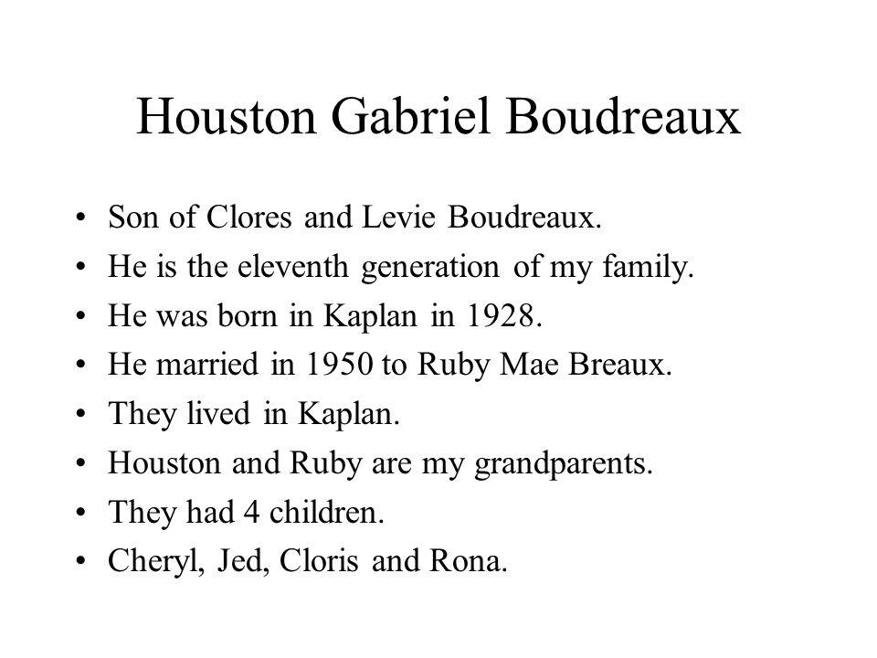 Houston Gabriel Boudreaux