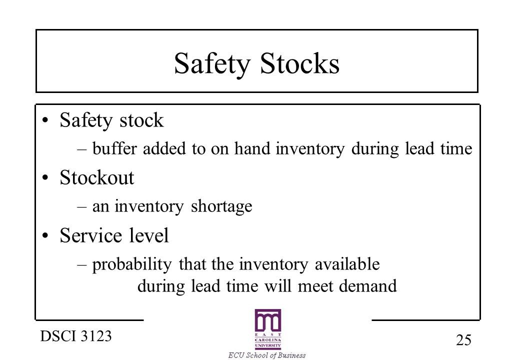 business inventory and safety stock Stock out analysis: an empirical study on of problems related to inventory, the company's business processes will safety stock also has a relationship.