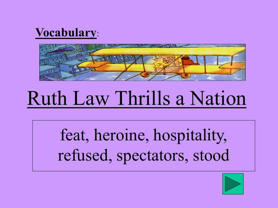 Ruth Law Thrills a Nation