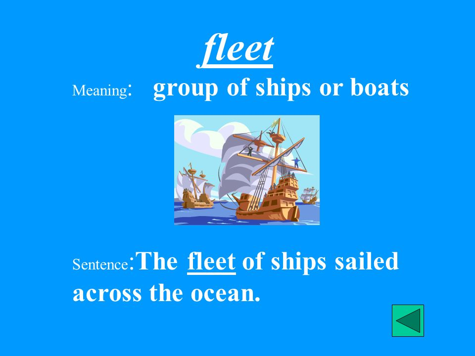 fleet Meaning: group of ships or boats