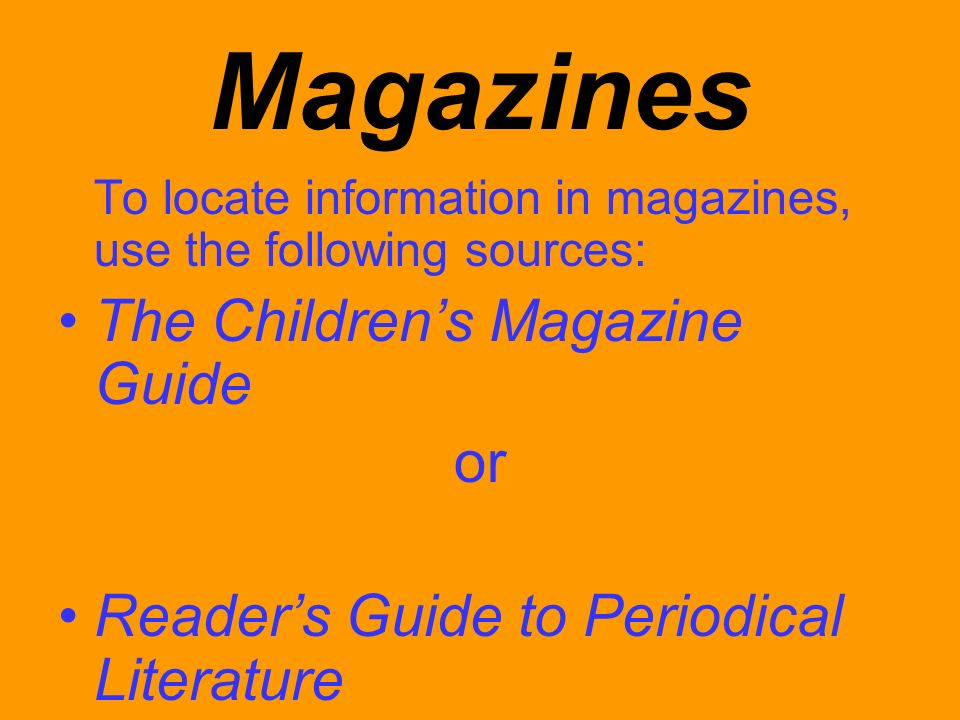 Magazines The Children's Magazine Guide or