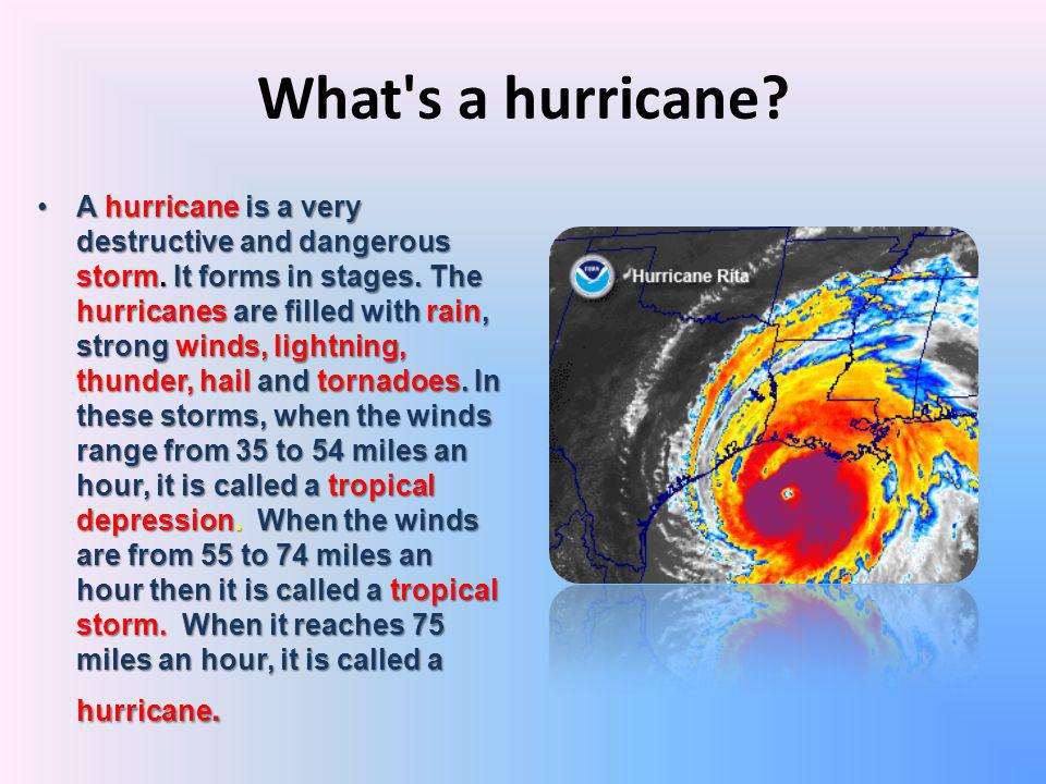 What s a hurricane
