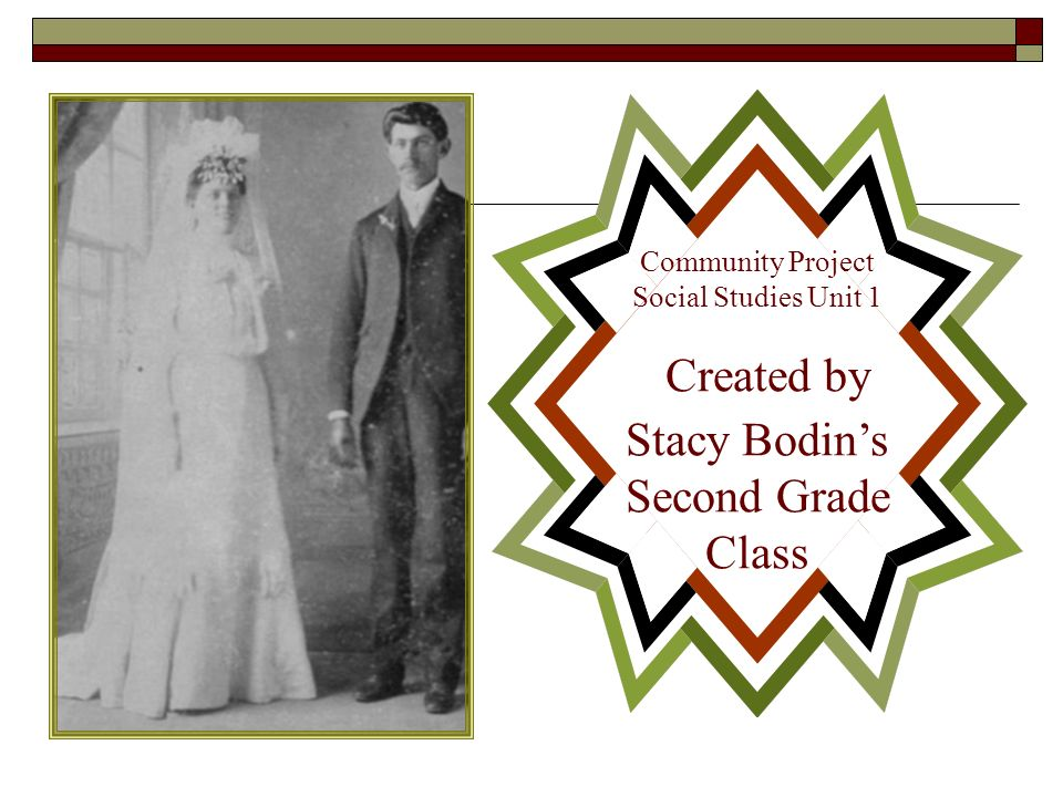 Community Project Social Studies Unit 1 Created by Stacy Bodin's Second Grade Class