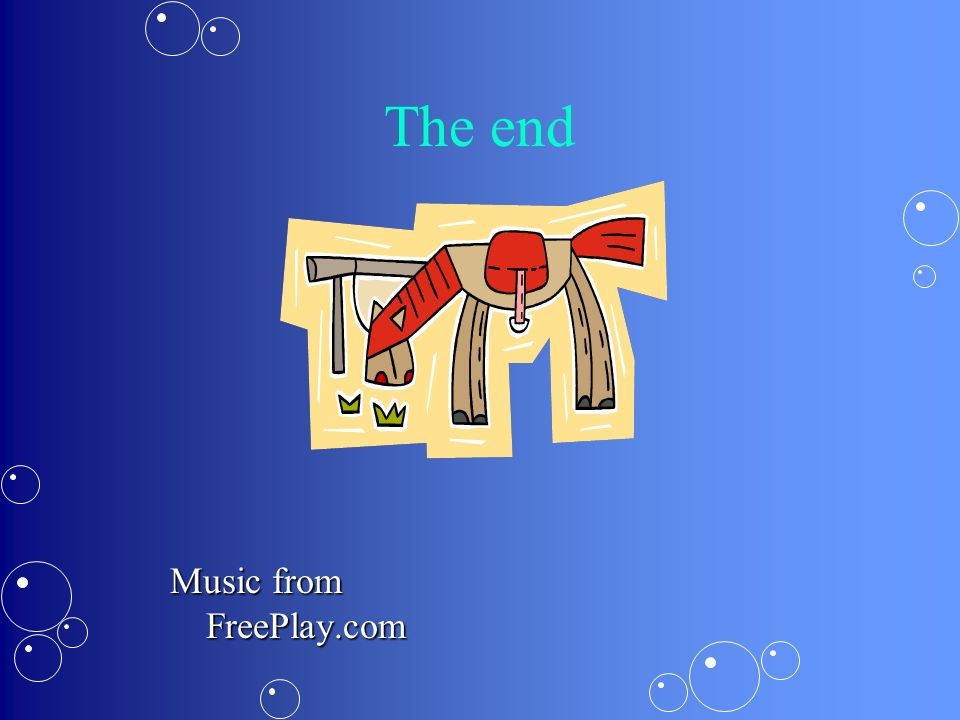 The end Music from FreePlay.com