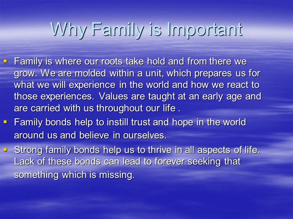 importance of family essay