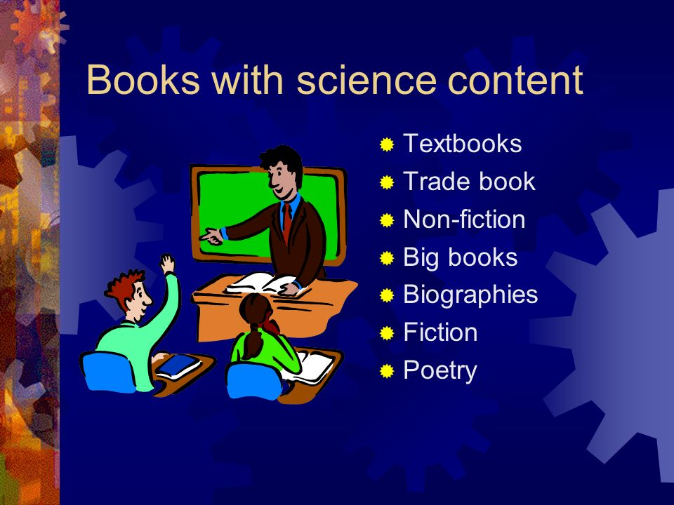 Books with science content