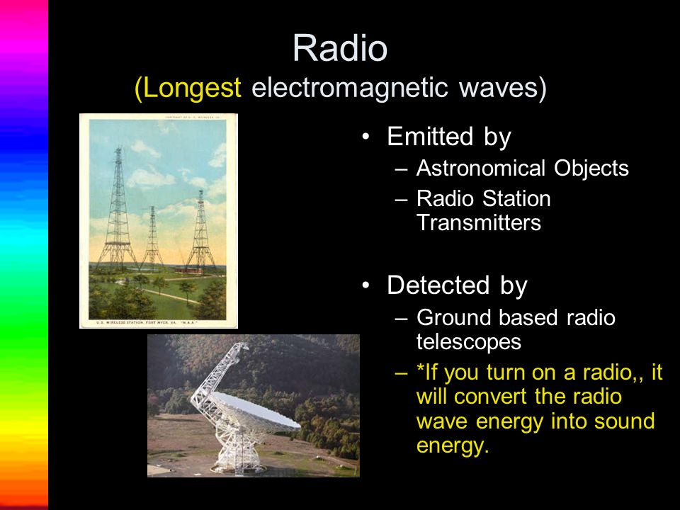 Radio (Longest electromagnetic waves)