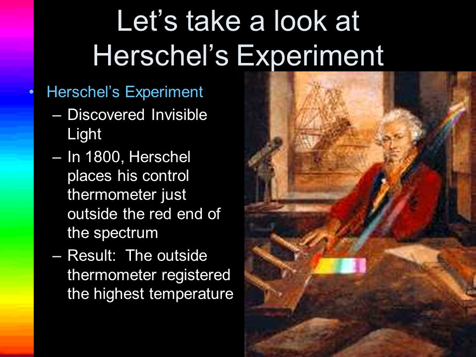 Let's take a look at Herschel's Experiment