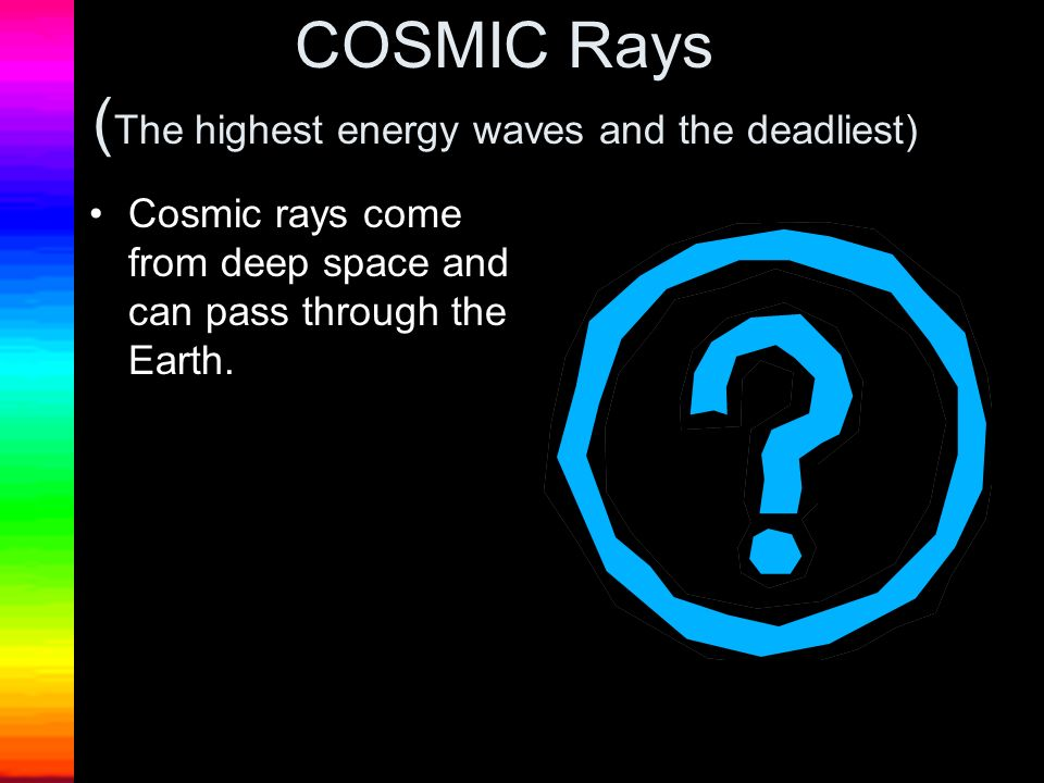 COSMIC Rays (The highest energy waves and the deadliest)